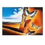 Lámina Paisaje con mariposas, de Salvador Dalí, Tamaño: 80 x 60