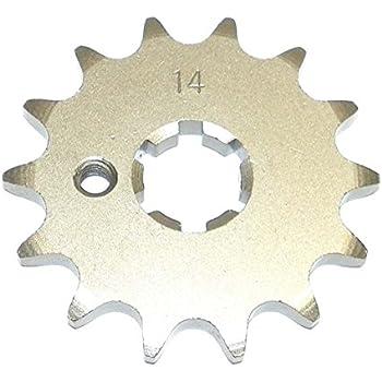 13144-1022 Yamaha Steel Front Sprocket PW 80 1983-2009// TT 90 2000// TT-R 90 2001-2007// DT 100 1977-1983 14 Teeth FSY-012-14 OEM # K1314-41022