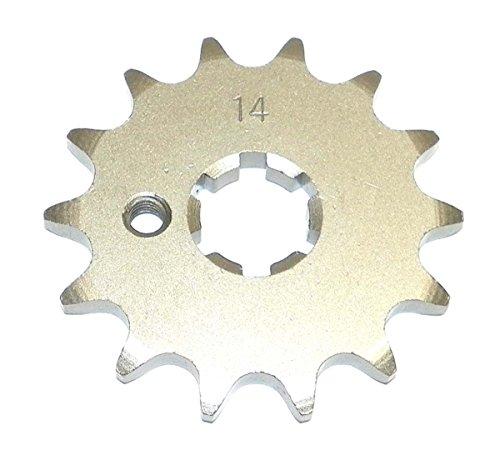 Yamaha Steel Front Sprocket PW 80 1983-2009/ TT 90 2000/ TT-R 90 2001-2007/ DT 100 1977-1983 14 Teeth FSY-012-14 OEM #: 13144-1022, K1314-41022