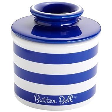 The Original Butter Bell Crock by L. Tremain, Cobalt Blue Striped