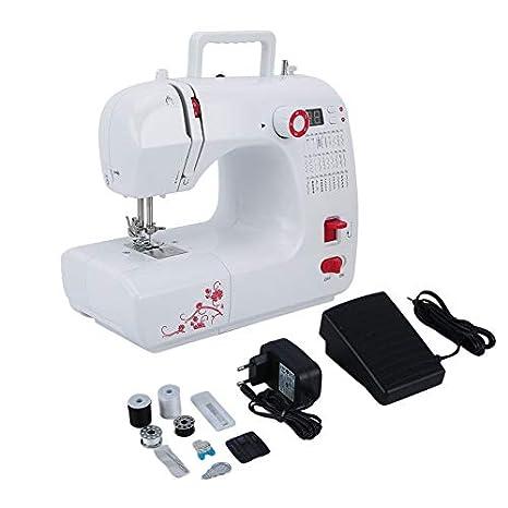Máquina de coser eléctrica multifuncional para el hogar FHSM-702 Máquina de coser con doble rosca de prensatelas de doble velocidad: Amazon.es: Hogar