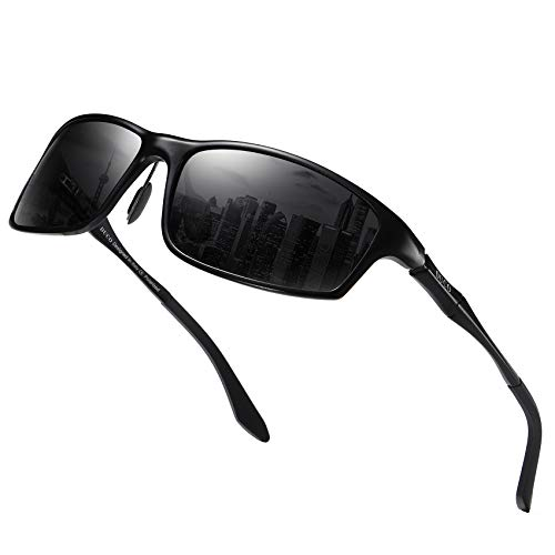 DUCO Vintage Polarized Sports Metal Frame Driving Sunglasses for Men 100% UV400 Protection DC8201