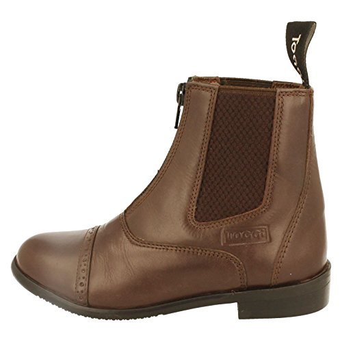 Short Zip Jodhpur Toggi Kids Up Boots Leather Brown Augusta 74q756I