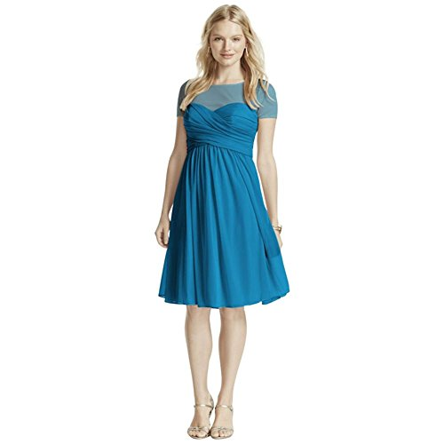 pleated-bodice-short-sleeve-mesh-bridesmaid-dress-style-f15911-pacific-2