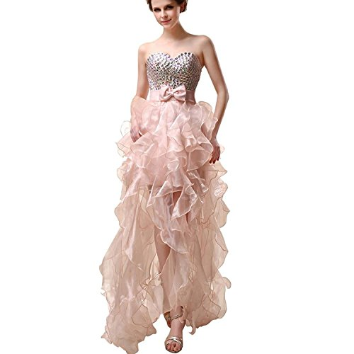 Sarahbridal 068 Cocktail Low Tulle Hi Beading Gowns Prom Dresses Women's Blue Evening Homecoming sky anqzaP6