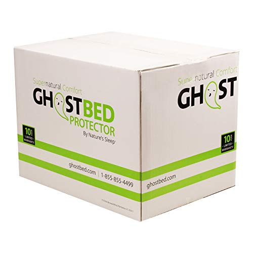 GhostBed Twin XL Premium Mattress Protector - Noiseless - 100% Waterproof Mattress Protector - Guaranteed to Fit and to Stay On with Patented GhostGrips - Industry Leading 10 Year Warranty (Renewed)
