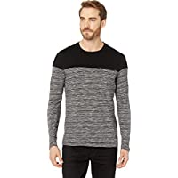 Kenneth Cole New York Mens Long Sleeve Space Dye Crew w/Zip