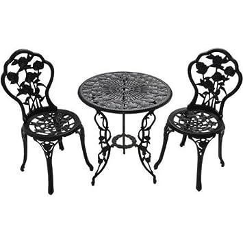 Amazoncom Patio Furniture Outdoor Garden Rose 3 Piece Bistro Set