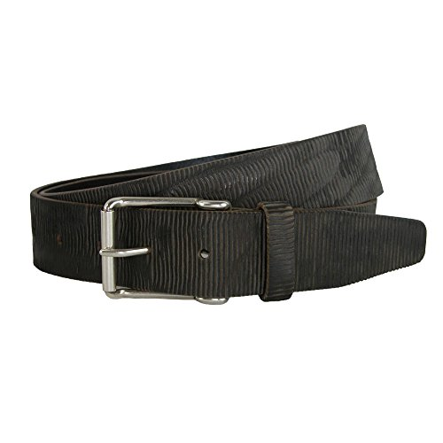 CrookhornDavis Men's Blade Lux Sicilian Leather Jean Belt, 34, Charcoal