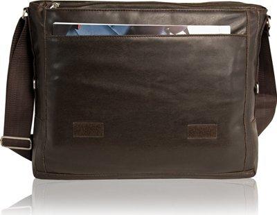 DANIEL RAY Umhängetasche MILANO Notebooktasche Schultertasche Laptop Tasche Braun