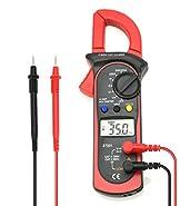 Digital Clamp Meter Multimeter with Auto Range Handheld AC/DC Voltmeter AC Current for Amp Resistance Electrical Voltage Tester