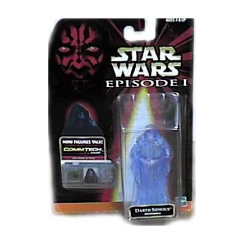 Star Wars Episdode I Commtech Chip Darth Sidious Holograph Figure Rare (Star Wars Figure Commtech Chip)