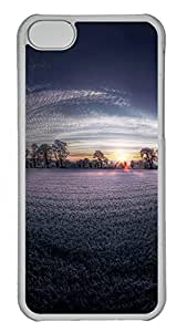 iPhone 5C Cases & Covers - Lavender Field Dawn Custom PC Soft Case Cover Protector for iPhone 5C - Transparent