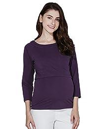 Sweet Mommy Basic Maternity and Nursing Three-quarter Sleeve Tee Shirts