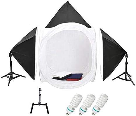 مجموعة خلفيات تصوير خيمة 50x70 سم سوفت بوكس باضاءة هادئة للتصوير قياس 80×80 سم 150 واط تضم 4 قطع من فوتوغرافي