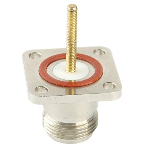 Silver JINYANG Excellent Coaxial RF N Female Adapter with Square Plate