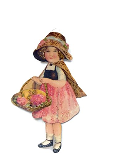 Easter Tree Ornament Decoration Victorian Spring Flower Girl Handmade Holiday Gift