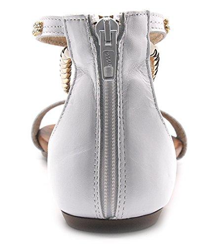 Creative - Sandalias de vestir de Piel para mujer blanco