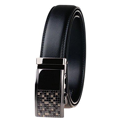 b823021f4 El servicio durable GangTu Cinturón de trinquete de cuero genuino de los  hombres Cinturón de hebilla