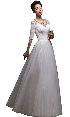 Damen Schlauch Drasawee Weiß Kleid Weiß zUw5Tdwq