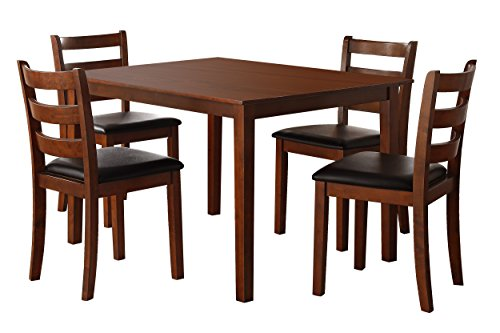 (Homelegance Ivins 5-Piece Pack Dining Set, Cherry)