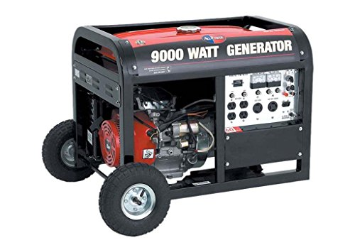 All Power 9,000 Watt Gas Generator with Electric Start and Wheel Kit