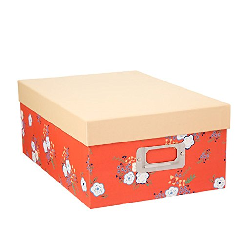 Darice Decorative Photo Storage Box Coral Floral,Multicolor by Darice