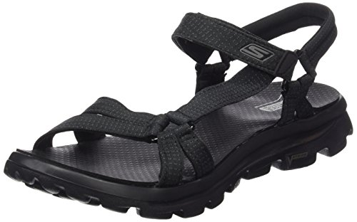 Skechers Go Move-River Walk, Chaussures de Tennis Femme noir (BBK)