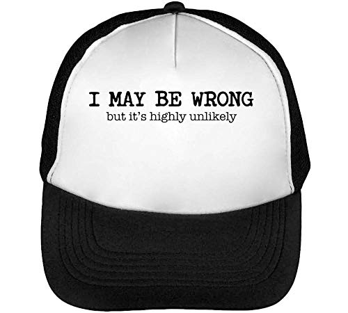I Be Highly Hombre Wrong May But It'S Snapback Negro Beisbol Unlikely Gorras Blanco qZSrq