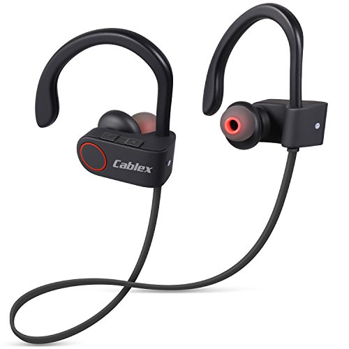 Cablex-Bluetooth-Headphones-Wireless-Bluetooth-Headset-V41-Stereo-Sports-Earbuds-with-Mic-In-Ear-Noise-Cancelling-Sweatproof-Earphones-for-iPhone-iPad-Samsung-Galaxy-and-Android-Smartphones