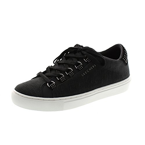 Lace Up Trainers Skechers Womens 73533 Schwarz Street Casual Side qw0qnXAxH