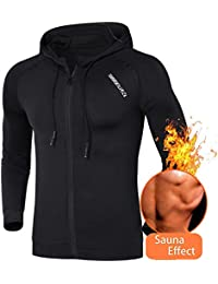 Men Weight Loss Sauna Suit Workout Shirt Body Shaper Fitness Jacket Gym Top Clothes Shapewear Long Sleeve