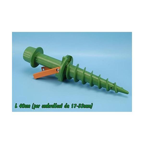 Supporto spirale trivella base picchetto per porta ombrellone mare spiaggia 1 spesavip