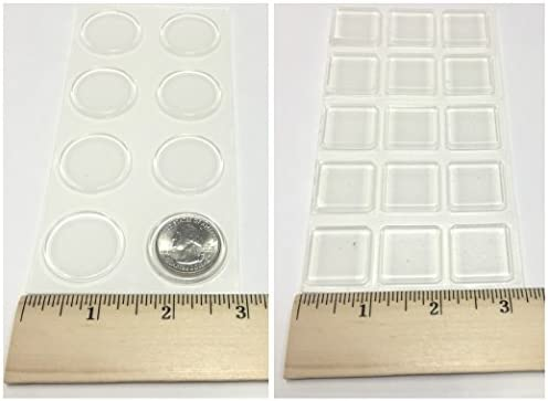 Glass Table Top BumpersThin Clear Bumper Pads1.23 Inch Round Rubber Bumper