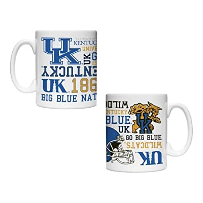 NCAA Kentucky - Spirit Coffee Mug (2) | UK Wildcats 15 oz. Sublimated Coffee Cup - Set of 2