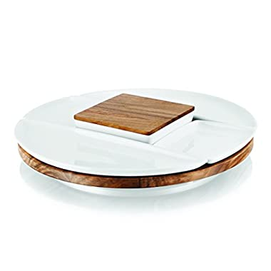 Umbra Spun Lazy Susan Server, White/Natural