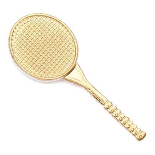 Gold Tennis Racket - JDS Industries Tennis Gold Chenille Sports Lapel Pin