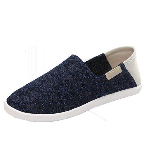 Casuales Xia Zapatos Blue Sra Qiulei Chun De Metálica Tela CHT BcnTnZqdv