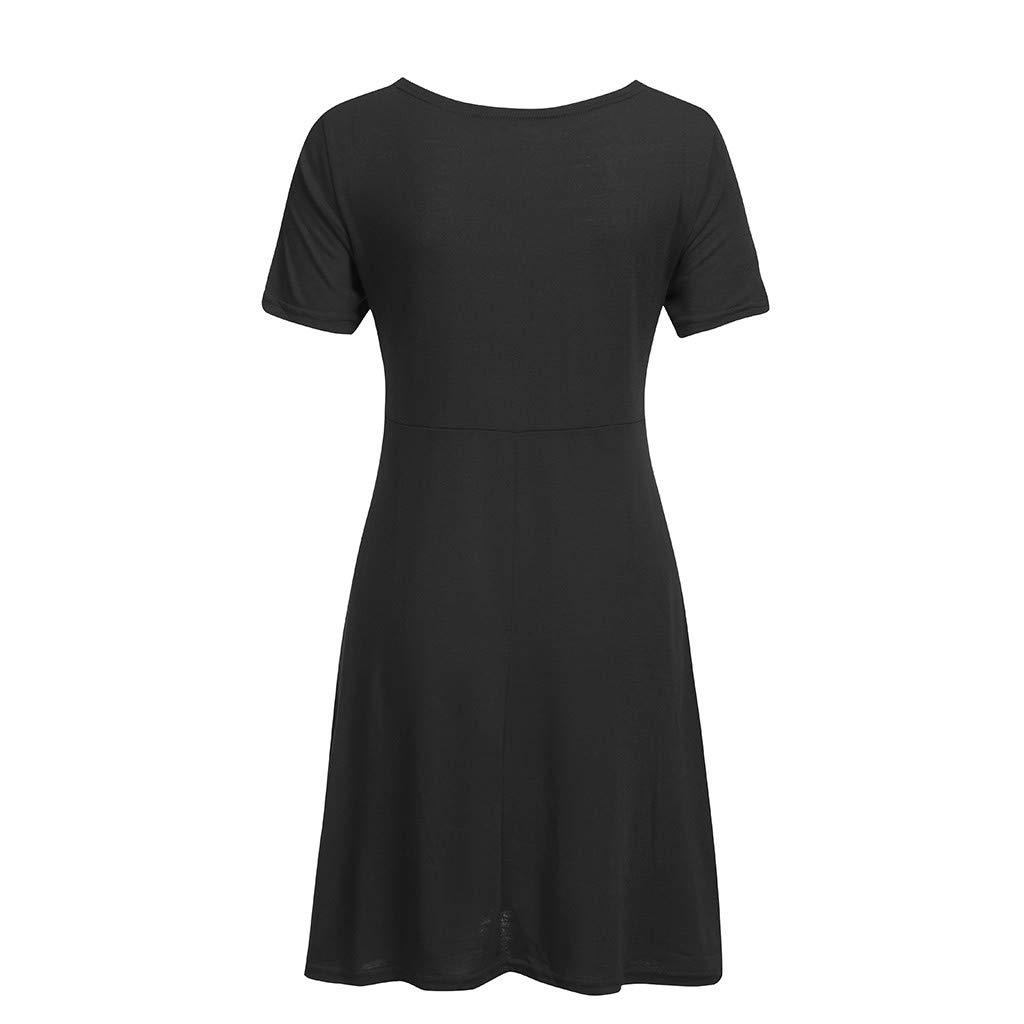 Lenfesh Damen Umstandskleid Schwangerschafts Kleid V-Ausschnitt Still-Nachthemd Mit Kurzarm Stillen Baby Nachthemd Stillen Nachthemd Nachtw/äsche Party Strandkleid