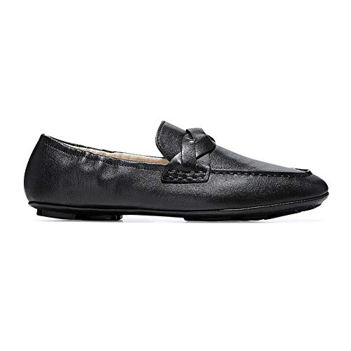 Cole Haan Women's Odette DRIVERINA Driving Style Loafer Black Leather 9 B - Driving Haan Cole Shoes Women