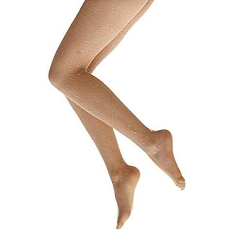 (Fheaven Women Open Srotch Net Fishnet Bodystockings Drill Pantyhose Tights Stockings)