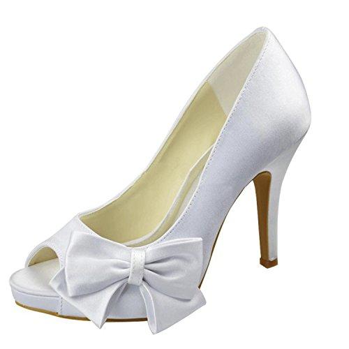 Minitoo - Sandalias de vestir para mujer Ivory-10cm Heel