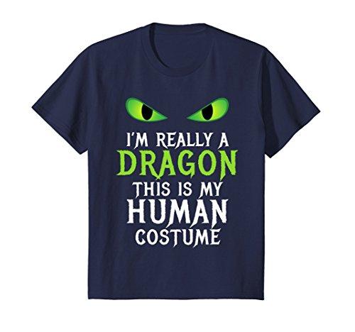 Kids Funny Scary Dragon Costume Halloween Shirt for Women Men Boy 8 Navy