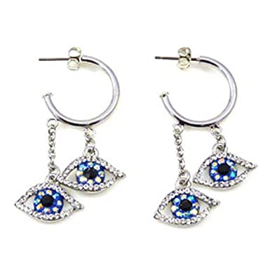 2c4e1616e Butler and Wilson Big Brother Eye Hoop Earrings: Butler & Wilson:  Amazon.co.uk: Jewellery