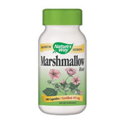 Marshmallow Root, 480 mg, 100 Capsules, From Nature's Way (Pack of 4)