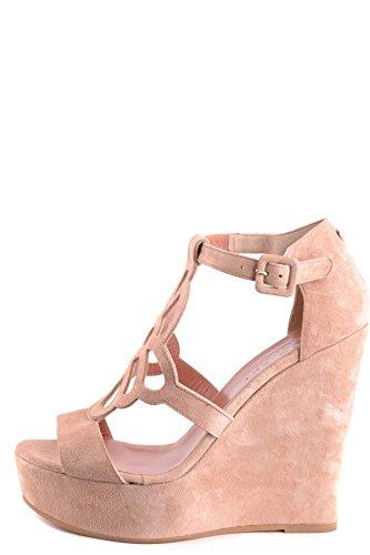 Twin Set Femme Mcbi302167o Beige Suède Chaussures Compensées