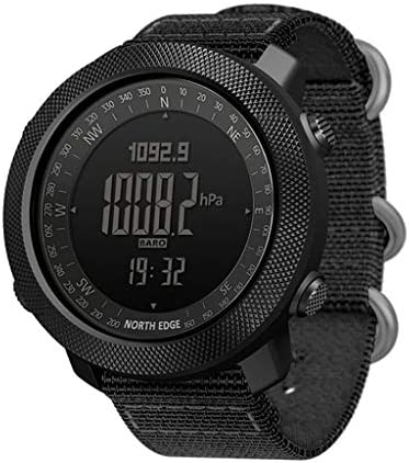 North Edge Apache Men s Sports Watch Digital Wristwatch 5ATM Waterproof Stop Watch Swimming Running Black
