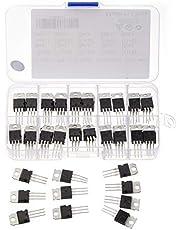 Bridgold 50pcs 10Types TIP Series Transistors Assortment Kit, Including TIP31 TIP32 TIP41 TIP42 TIP120 TIP121 TIP122 TIP125 TIP126 TIP127