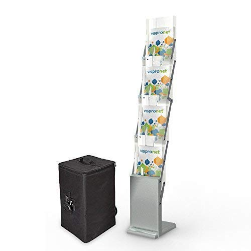 - Tradeshow Magazine Rack - Collapsible Literature Holder for Events and Conferences