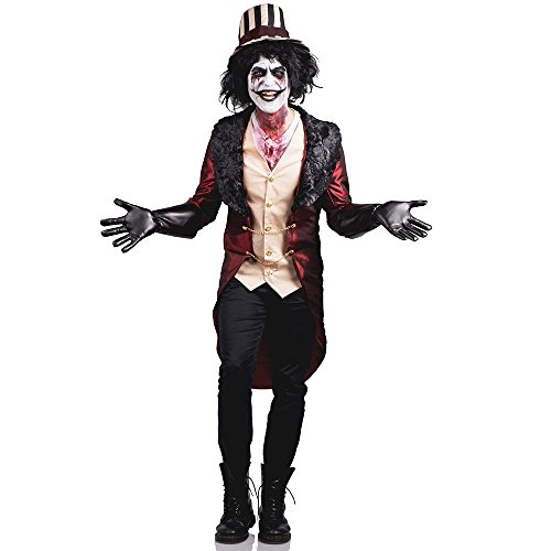Mad House Ring Master Adult Costume - (Ringmaster Halloween Makeup)